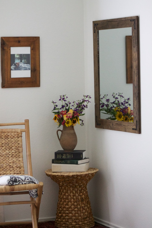 set of two 30x36 bathroom mirror set reclaimed wood. Black Bedroom Furniture Sets. Home Design Ideas