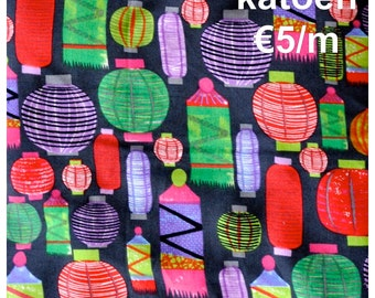 SALE Cotton prints 'Chinese lantern'