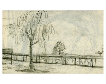 Pencil Sketch Giclee Art Card
