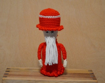 Christmas Dude, Crochet Santa, Christmas Crochet, Christmas Decor, Red Santa