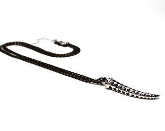 Silver & Gunmetal Chain Necklace