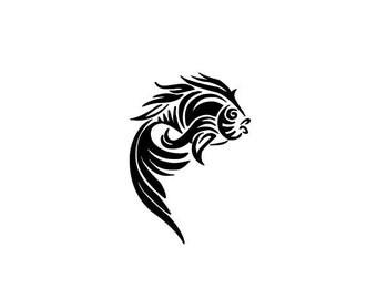 Tribal Fish SVG-DXF-EPS cut-Cricut-Silhouette