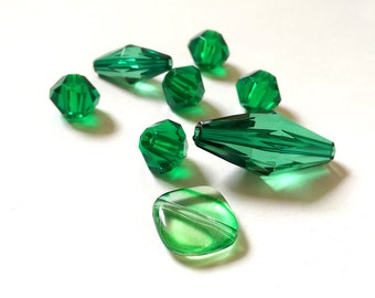 Gorgeous green Vintage Acrylic beads