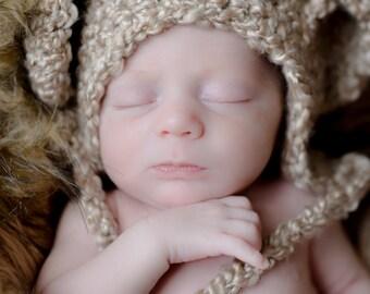 Newborn Little Bear Bonnet - Made To Order