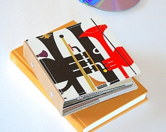 14 CD Wallet, CD/ DVD Storage Book Handmade from Upcycled Album Cover, Cd Case, Cd Book, Cd Holder, Cd Storage