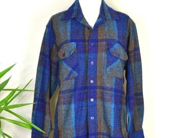 1980s Penfield Trailwear Flannel Jacket / Wool Flannel Button Up