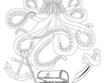 Fantasy Nautilus Shell with Ocean