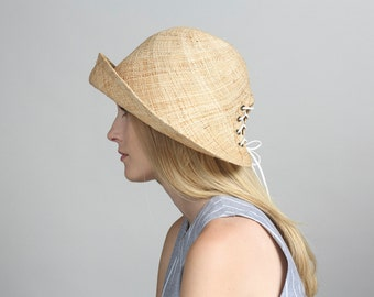 Womens straw bucket hats, Straw buckethat , Straw hat for women , Women summer hats , Straw hat , Sun hat , Beach hat , Bucket hat