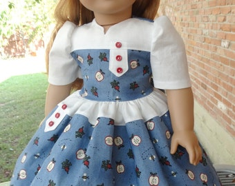 """18"""" Doll Clothes 1940's / 1950's Style Dress Fits American Girl Maryellen, Kit, Ruthie, Molly, Emily"""