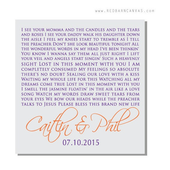 Lost Wedding Gift List : Lost in this moment, Big & Rich song Lyrics on Canvas, Wedding Gift ...