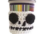 Skeleton Cup Cozy Crochet Coffee Reuse