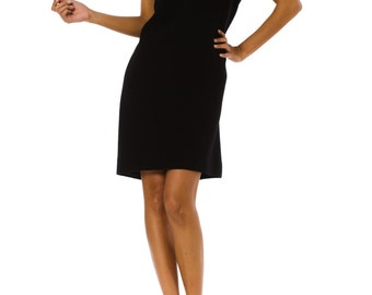 1990s Versace Couture Minimal Black Dress Size: S/M