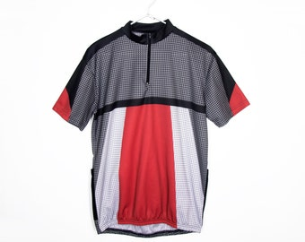 90s Geometric Cycling Shirt (Med.)