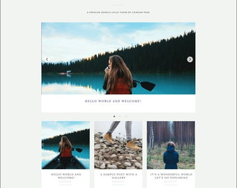 WordPress Theme - Genesis Child Theme - Responsive WordPress Theme - Blog theme template: Explore