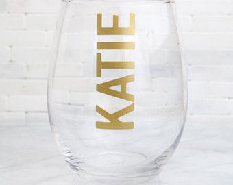 Personalized Wine Glasses, Bridesmaid Wine Glass, Custom Wine Glasses, Bridesmaid Gift, Bridal Party Gifts, Wedding Wine Glasses, Engraved
