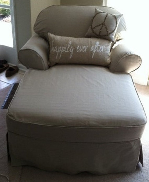 1 cushion chaise lounge slipcover custom made to fit for Chaise cushion covers