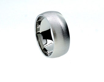 Wide matte wedding ring, palladium band, contemporary ring, modern wedding ring, man palladium ring, men wedding ring, matte simple rings