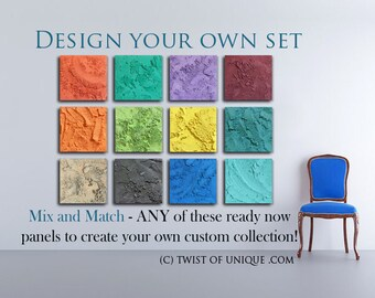 Make your own Set / mix and match ready now paintings / create your own /Pick any (15 x 15)/ORIGINAL abstract Paintings / Concrete painting