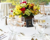Slate Wedding Table Numbers - Rustic, Elegant, Wedding, Engagement, Party, Fundraiser