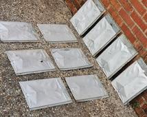 10 Antique Metal Roofing Tile Shingles Embossed Fleur De Lis Crafting Decor Architectural Grade B