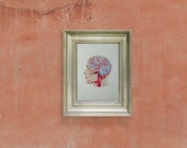 Brain Anatomy Art. Anatomical Brain. Embroidered Home Decor. Veins and Arteries of the Head. Embroidered Wall Art. Fiber Art. Science Art
