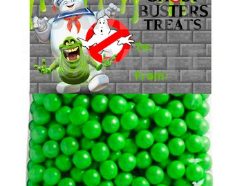 Ghostbusters Inspired Boys Birthday Candy Treat bBg  topper LABELS -Printable File
