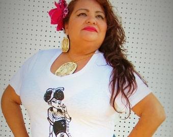 "1 pair of LA VIRGEN De Guadalupe Wood Laser cut and Laser Engraved Wooden Dangly Earrings 3"""