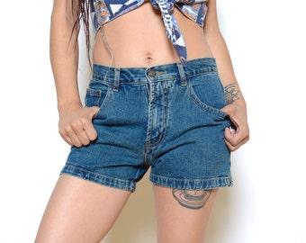 Vintage 90's GARFIELD Mid-Rise Jean Shorts Sz 29W