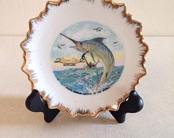 Vintage Ocean City, Maryland Marlin Travel Plate