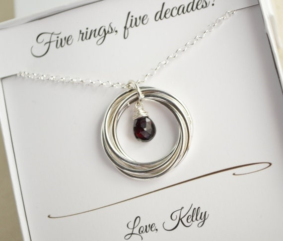 50th birthday gift january birthstone necklace 5