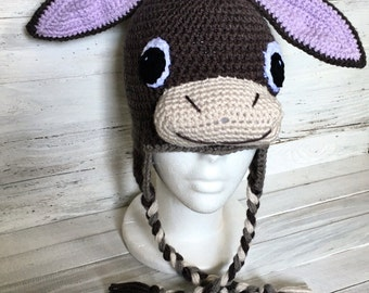 Donkey Hat - Donkey - Hat - Animal - Animal Hat - Donkey Costume