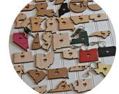 Mississippi Keychain Mississippi Gift Personalized Keychain Wooden Keychain Custom Keychain Personalized Gift State Shape Gifts State Shape