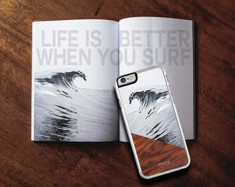 Surfing iPhone 6 / 6S Case, Wave iPhone 6 / 6S Plus Case Wood iPhone case