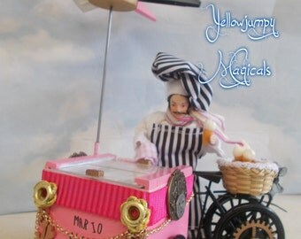 """Miniature Icecream bicycle The famous """"Mario's Glacies"""" With Mario.. Reserved please do NOT buy"""