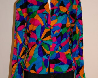Vintage Adrianne Papell Silk Jacket/Blouse