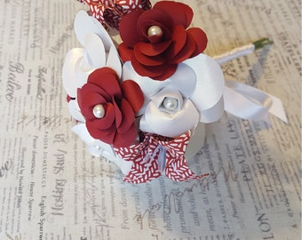 Origami Flower Bouquet, Valentine's Gift, Wedding Bouquet, Paper Flowers, Paper Flower Arrangement, Centerpiece, Red Paper Flowers