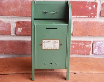 Antique Green US Mail-Bank