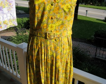 Vintage 1950's Jerry Gilden Print Dress