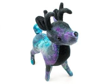 Galaxy Deer Stuffed Animal, Plushie, Plush Deer, Soft Toy, Softie