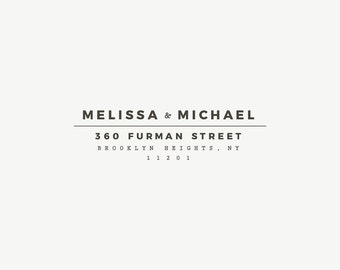 Custom Address Stamp, Modern Wedding Stamp, Rubber Address Stamp, Housewarming Gift, Personalized Stamp, Return Address, Envelope Addressing