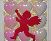 Dozen Pearlescent Pink Hearts*Valentine's Day Embellishments*Pink Heart Cabochons