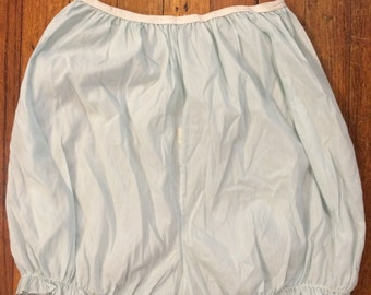 cotton bloomers pale blue sheer sexy high waist panties granny underwear cotton shorts