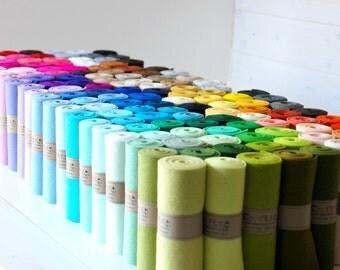 """100% Wool Felt Roll  - 5"""" x 36"""" Wool Felt Roll - Colorful Wool Felt - European Wool Felt - Pure Merino Wool Felt - Wool Felt - Felt Rolls"""