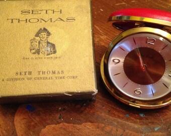 Seth Thomas Red Travel Clock