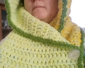 Hooded cowl/scarf/wrap/winter