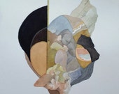 """Untethered Series """" Internalized Realizations Dangling from a Golden Thread """" original one of a kind watercolor"""