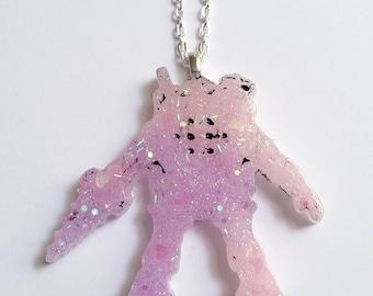 Bioshock Rosie Resin Necklace - Gamer Girl Nerdy Jewelry Geeky Jewelry Geeky Necklace Gamer Necklace Gamer Jewelry Bioshock Jewelry