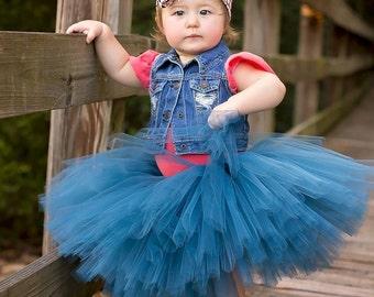 Antique Blue Tutu - Blue Newborn Tutu - Blue Bridesmaid Tutu - Blue Maternity Tutu - Blue Toddler Tutu - Blue Adult Tutu