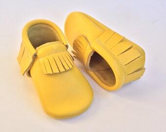 Marigold yellow moccasins