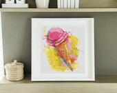 Mini Cross Stitch KIT |  Printed CHART |  Kitchen Series: Ice Cream